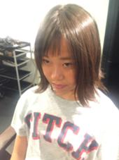 切りっぱなしボブ♪前髪アシメ♪ 山口さん大輝のスタイル