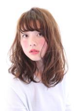 おフェロなセミロング♪ 毛先は少しウエットで、前髪は透け感のある感じに!メイクでヘルシーさも*\(^o^)/* hair  circle geep所属・合田岳永のスタイル