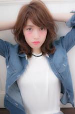 ラフなカールでカジュアルミディ♩ stylist*minamiのスタイル