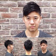 【street cool short】  普通のソフトモヒカンだとつまらない方は、前髪長めのアシンメトリーにするとストリート感が出て面白いかもしれません‼︎ CHILLCHAIR所属・小玉悦史のスタイル