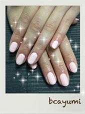桜色ワンカラー^o^ beauty salon haru ネイル所属・ネイリストAYUMI❤のフォト