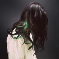 カラー ショート セミロング パーマ ヘアアレンジ ミディアム メンズ ロング black+green
