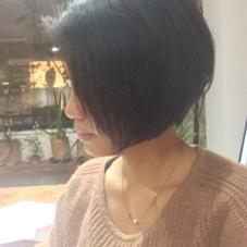 カットのみグラボブ☆ お客様の要望にお応えしてカットのみでスタイリング剤はつけてません^ ^ レザーカットだからこその馴染みですね( ^ω^ ) Loty hair design所属・川原一高のスタイル