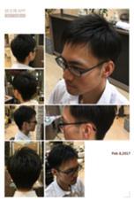 気になる耳周りはツーブロックですっきり‼︎爽やか度100パーセント!襟元も収まるようにカットしてあります! 加々美賢育のスタイル