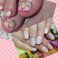 ブローチnail、リボンととても可愛い優しい イメージ プライベートサロンnono  nailのフォト