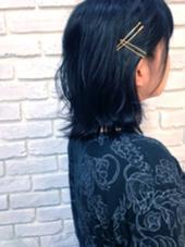黒髪でもピンで軽さを強調♡ agir hair所属・河合真里奈のスタイル