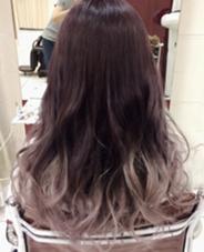 カラー セミロング ロング 紫ベースのグラデーションカラー!