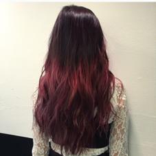 毛先ブリーチ一回です! 三段階のグラデーションで色落ちもキレイです! HAIR ISM所属・青田啓汰のスタイル