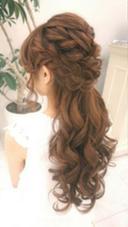 ネオハーフアップ 上野霞のヘアアレンジ
