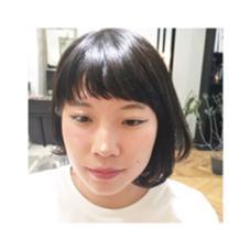 ボブスタイル×ショートバング jili所属・福永愛菜のスタイル