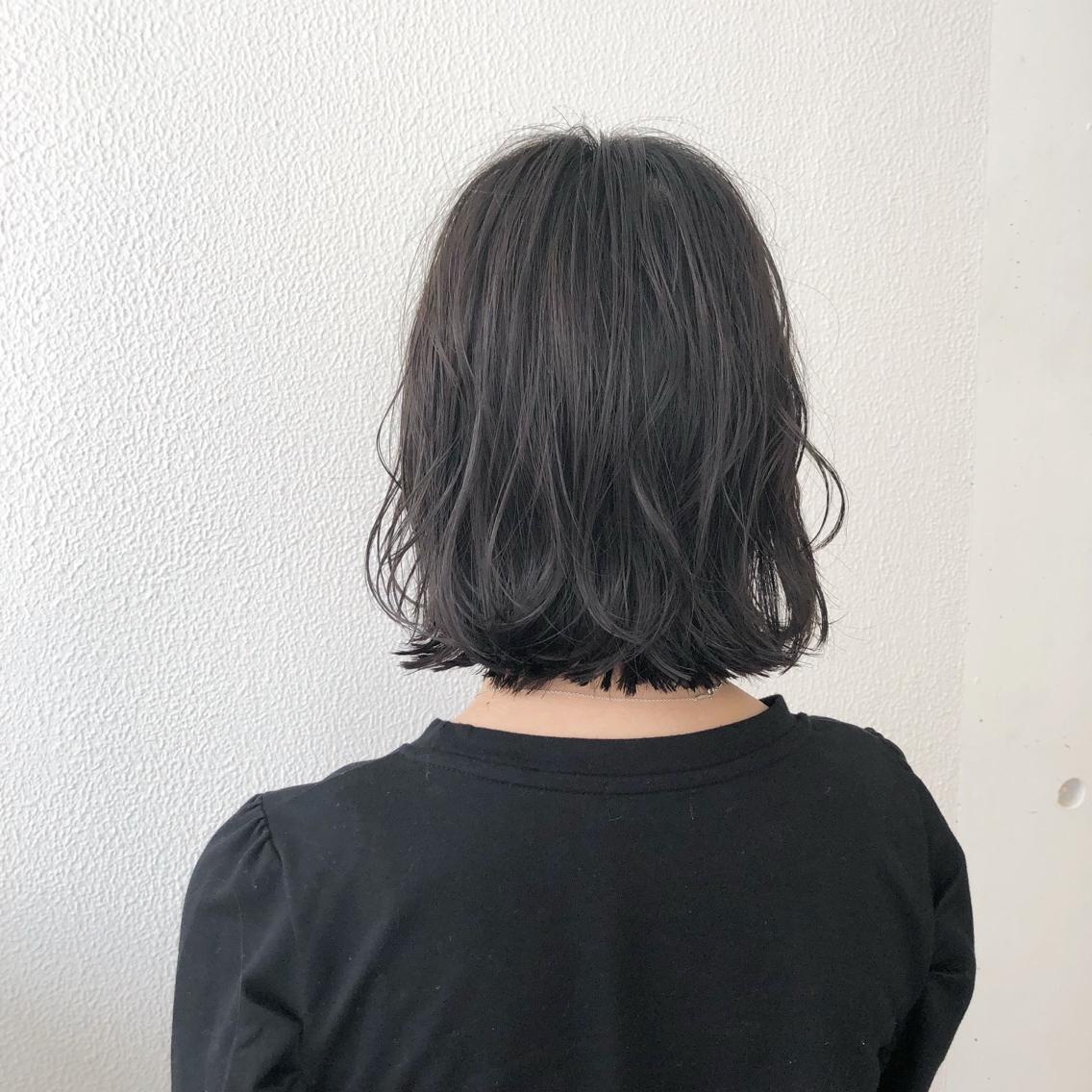 #ショート #カラー #パーマ #ヘアアレンジ 【ダークグレージュ×外ハネボブ】  Instagramにもヘアスタイル載せてますので是非♪♪  https://instagram.com/yuuki_matsui_/