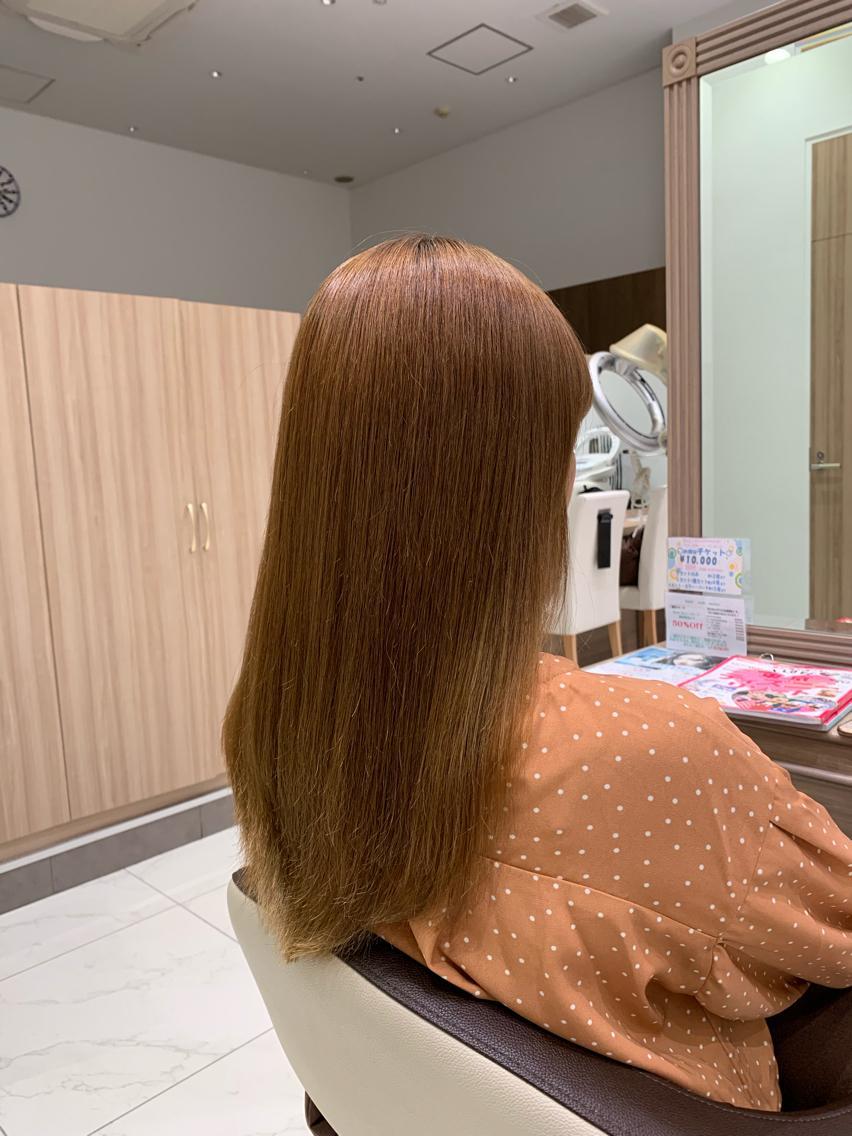 #セミロング #パーマ 伸ばし中の方へ…  ナチュラル縮毛矯正で梅雨時期と夏を乗り切る髪質へ…😊✂️👍