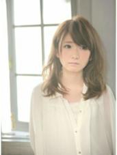 今回のコンセプトはモデルさんにあった柔らかさや、ナチュラル綺麗です ameri所属・石川香澄のスタイル
