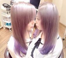 ハイトーンカラー、ホワイトカラー、紫のカラートリートメント シェリー所属・シェリーオフィシャルのスタイル