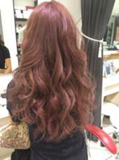 3Dアリエルカラー❤︎ピンク&アメジストのポイントカラー HAIR&MAKE EARTH 横浜所属・武井麻里のスタイル