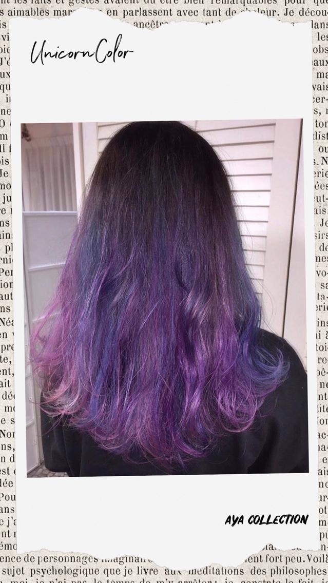 #セミロング #カラー #ヘアアレンジ #その他 髪の状態からして 2回から3回のブリーチが最適です