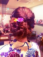ゆかたヘアアレンジ kind所属・takahatanatsukiのスタイル