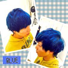 トリプルカラーでブルーカラー♪ 周りと差をつけたい方はぜひ!! LUCK  by kiki所属・中村卓也のスタイル