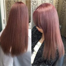 ピンクベージュのサラサラロングヘア^_^ Hair Grande Seeek所属・MatsubaraYasuyukiのスタイル