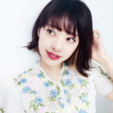 シースルーバング デザインカラー  VAN COUNCIL春日井所属・佐瀬朝美のスタイル
