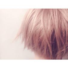 ブリーチカラーでうっすらピンクをのせて、、♡ ショートボブ CHAUSSE-PIED EN LAITON所属・KAMEINORIKOのスタイル