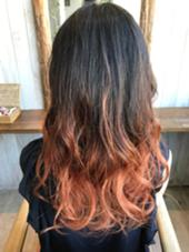 グラデーションカラーです^ ^ とっても、かわいいです♪ La fith  hair vail所属・古藤綾香のスタイル