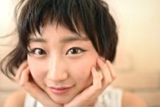 前髪は短めで可愛くとキレイを合わせた仕上がりへ hamonishair所属・☆toshiのスタイル