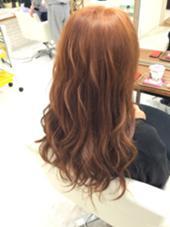ダブルカラー! 黒染めからオレンジ系に仕上げました(^○^) S.hair&nail所属・彦坂凌のスタイル