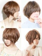 カラー ショート パーマ ミディアム ショートカットスタイル&綺麗な後頭部スタイル