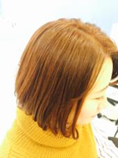 menu : color ナチュラルなオレンジで印象も明るく! FEERIE tsukuda所属・熊谷玲美のスタイル