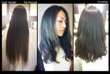 スパーロングからスタイルチェンジ! ゆるふわパーマスタイル。 乾かすだけの簡単お手入れ♡ ex-fa  hair garden所属・澤田彩香のスタイル