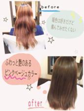 この施術、カラーに トリートメントを 5種類贅沢に使った 潤い処方です♪ BEL POSTO hair所属・吉岩佳亮のスタイル