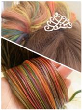 体育祭♪ 虹色がすごく可愛いてす!一度はやってみたくなるグラデーション(^^) LABO-01所属・マスナガヒロノリのスタイル