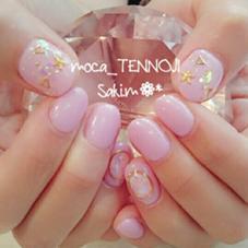 パステルなピンク × 紫にフィルムでキラキラ感をプラス♡ moca天王寺店所属・宮本紗希のフォト
