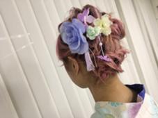 結婚式やパーティーのヘアセットも承ってます(^^) Neolive Luca所属・遠藤沙希のスタイル