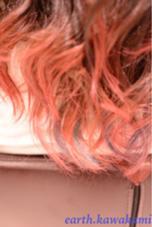 グラデーションとハイライトの混合カラー! ベースがピンク系のハイライトを紫にしてます! earth名駅サンクチュアリ所属・河上雅俊のスタイル
