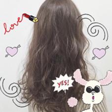 ラベンダーグレージュ♡ こちらもハイライトをたっぷり入れてるので 暗めでも柔らかく透き通るカラーに♡ Hair room CHARI所属・松尾彩のスタイル