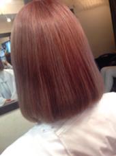 Wカラーでピンクを入れました⭐️ ナチュラルコントロール所属・遠藤早美のスタイル