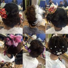 成人式のセットです❤️ リボンする子が多かったです hair&make ChouChou所属・松山仁美のスタイル