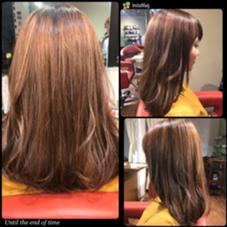 ロングワンレングス。 内側を軽くして、表面に少し動きを出すために スライドカット。 仕上げに毛先ワンカール、表面に軽く動きをプラス。  hair Trees所属・清水大樹のスタイル