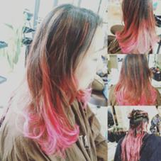ピンクのインナーカラーです★ hairmakeEARTH松山銀天街店所属・たかじょうなおひろのスタイル