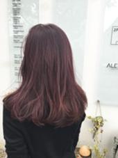 イルミナカラー。パープルピンク☆ ALETTA  HAIR objet(アレッタヘアオブジェ)所属・小西大貴のスタイル