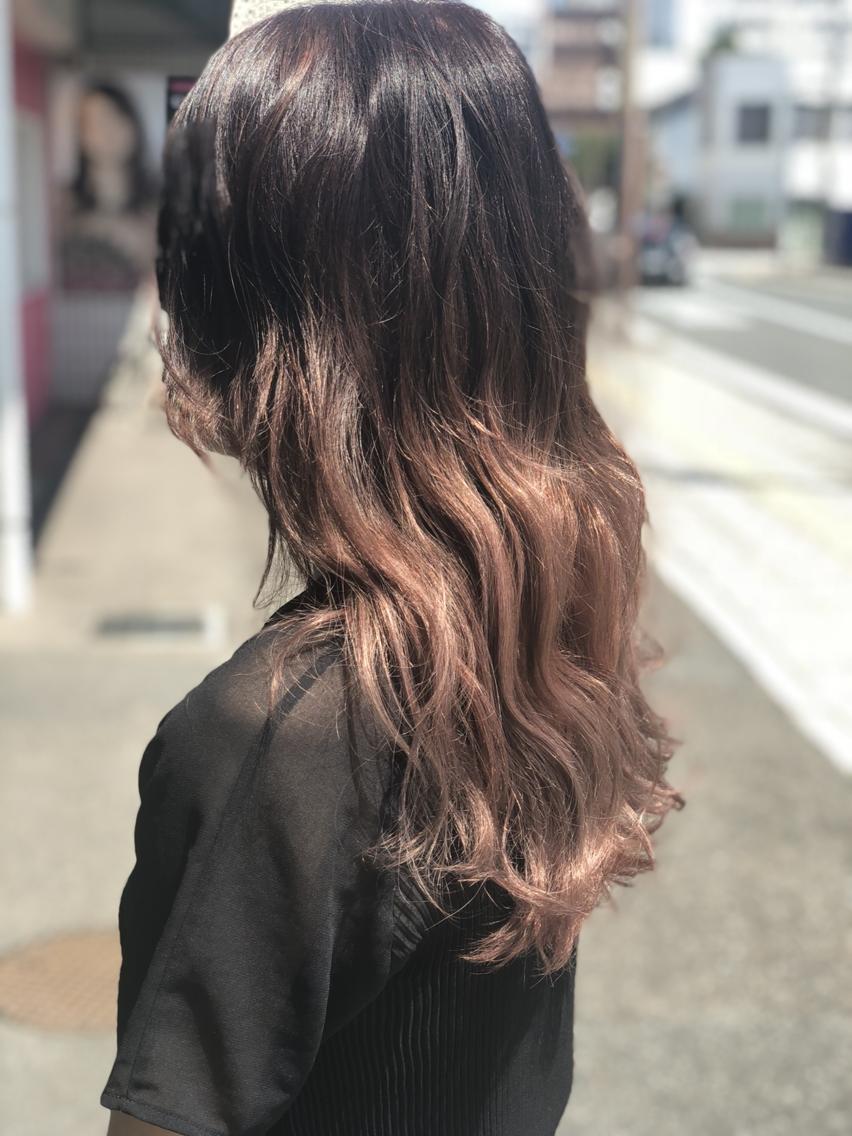 #ミディアム #カラー #パーマ #ヘアアレンジ グラデーションカラー、ハイライト、産毛カラー 裾カラー、何でも綺麗にします!!