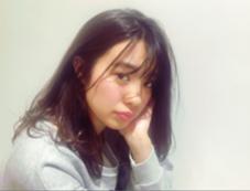 毛先ワンカールのラフなロブstyle! air-GINZA所属・松本朱美玲のスタイル