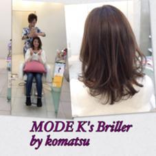 Instagramを見てのご来店♪  神戸の北区からきてくれた海奈ちゃん♫  めちゃ明るかった髪をモノトーンとウォームブラウンでトーンコントロール✨ トリートメントもしてくれたのでサラサラ艶髪です( ´ ▽ ` )ノ 遠い中ありがとうございます(≧∇≦) モードケイズブリエ所属・サロンディレクター小松 直樹のスタイル