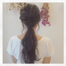 ash grayカラー♡簡単アレンジ☺︎ kiki hair works所属・karimatachikaのスタイル