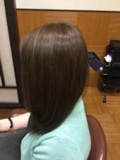 全体的にハイライトが入っていた髪の毛にアッシュを残しつつナチュラルに仕上げました^^* UNIX キラリトギンザ店所属・【ここをタッチ】松本じゅんのスタイル