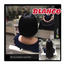 背中まであった髪をばっさり顎ラインボブに。 乾かすだけでも内巻きに入るようにカットさせて頂きました。コテで外ハネにしても可愛いです! 実習があるので黒染めに→真っ暗すぎず自然な濃い茶色です。 BLANCO G-south所属・牧野ひかるのスタイル