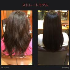 くせ毛と多毛な方は縮毛矯正でボリュームダウン! 綺麗なストレートは女性らしさをより演出してくれますね☆ Neolive occhi所属・鈴木純のスタイル