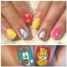 Garfield* ¥11,000 プロデュースネイル Nail salon AVARICE所属・_KIMIKOのフォト